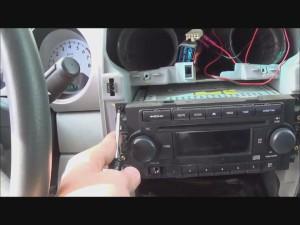 Remove radio on Chrysler PT Cruiser