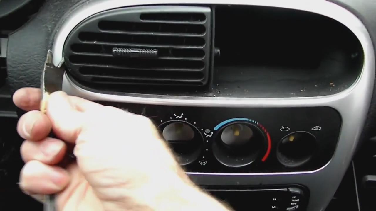 remove air vents on Dodge Neon