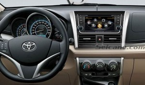 New unit after installation,gps dvd navigation system of 2013 2014 Toyota Yaris
