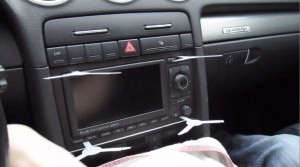2002-2008 Audi A4 Radio installation step 3