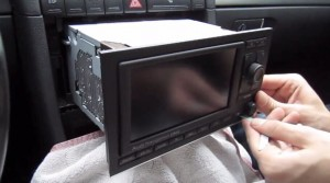 2002-2008 Audi A4 Radio installation step 5