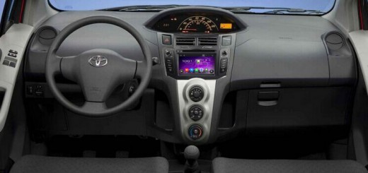 2005-2011 Toyota YARIS Radio after installation