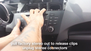 2009-2012 Mazda 5 Radio removal step 18