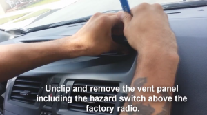 2009-2012 Mazda 5 Radio removal step 9