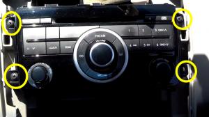 2012-2013 Mazda CX-9 Radio installation step 7