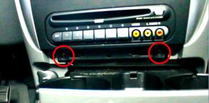 2002 2003 2004 2005 2006 Chrysler PT Cruiser car stereo installation step 2