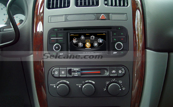 Chrysler Town Country Aftermarket Radio After Installation