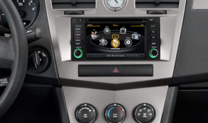 2008-2010 Jeep Commander head unit after installation