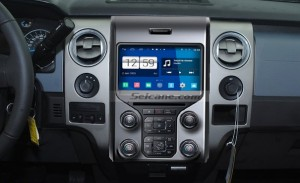 2012 2013 Ford F150 car stereo after installation