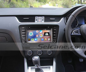 2014 2015 Skoda Octaiva car stereo after installation