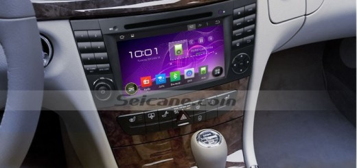 2004-2008 Mercedes Benz CLS Class W219 head unit after installation