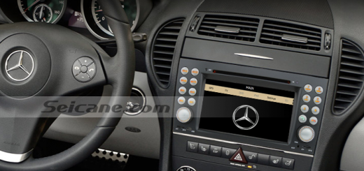 2004-2012 Mercedes-Benz SLK R171 head unit after installation