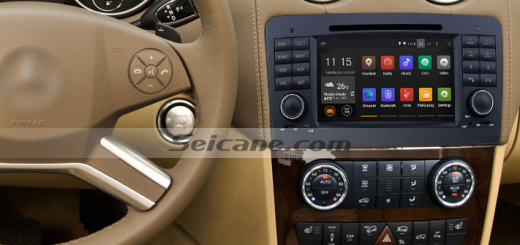 2005-2012 Mercedes-Benz GL CLASS X164 car stereo after installation