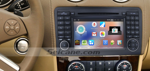 2005-2012 Mercedes Benz GL Class X164 radio after installation