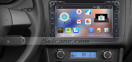 2005-2013 VW Volkswagen SAGITR head unit after installation