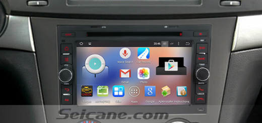 2006-2011 Holden Captiva head unit after installation