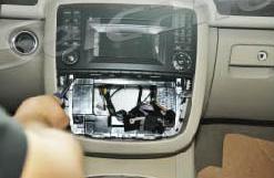 2006-2012 Mercedes-Benz R class W251 radio installation step 3