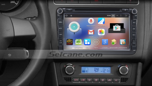 2006-2013 VW Volkswagen EOS car stereo after installation