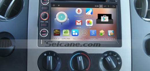 2007-2009 Ford Edge head unit after installation