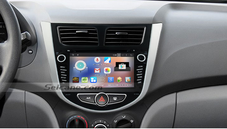 Simply install a 20112016 Hyundai Accent Blue car stereo with 7