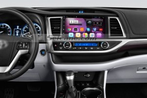 2014 2015 2016 Toyota Highlander head unit after installation
