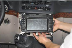 11. Install the new Seicane radio into the dashboard