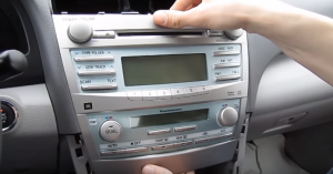 14. Take the factory radio out of the dashboard