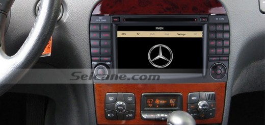 1999-2006 Mercedes Benz S W220 head unit after installation