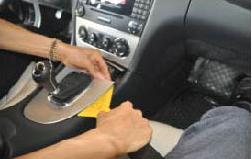 2. First detach the gear shift panel.