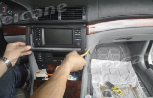 2.Use a plastic trim tool to remove trim strip.