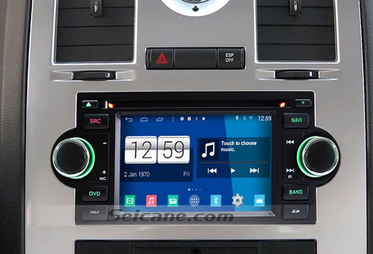 2002 2007 Dodge Durango Head Unit After Installation
