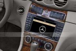 2004-2011 Mercedes Benz CLK W209 radio after installation