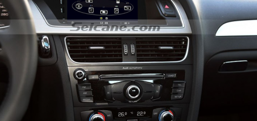 2008-2013 Audi A5 8T3 head unit after installation