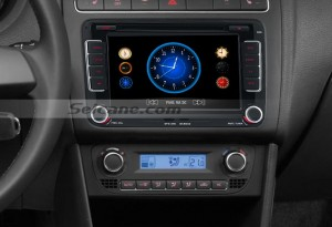 2010 2011 VW Volkswagen Polo(MK5) head unit after installation