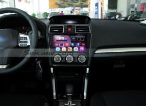 2012-2015 Subaru Forester XV radio after installation