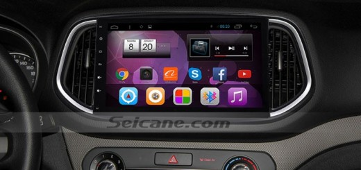 2014 2015 KIA KX3 head unit after installation