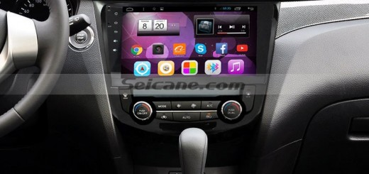 2014 2015 Nissan Qashqai X-TRAIL head unit after installation
