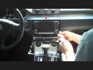 Remove the 2014 2015 VW Volkswagen PASSAT car radio four screws on the radio