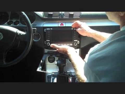 how to install a 2014 2015 vw volkswagen passat car radio take the 2014 2015 vw volkswagen passat car radio factory radio out of the dash