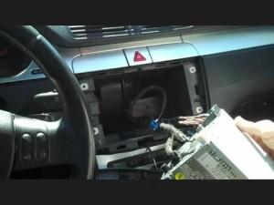 Disconnect the 22014 2015 VW Volkswagen PASSAT car radio wiring harness