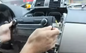 4. Take the original radio out of the dash