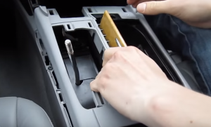 5. Remove the whole plastic panel under the brake with your hands