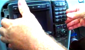 6. Take the original radio out of the dashboard