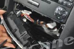 7. Remove the original air conditioner panel.