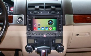 2002-2011 VW Volkswagen Touareg head unit after installation