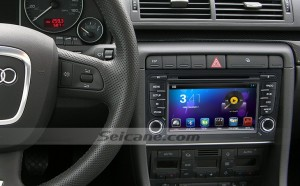 2003-2011 Audi A4 S4 RS4 head unit after installation