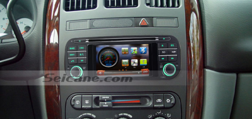 2004 2005 Dodge 1500 Pickup Truck head unit after installation