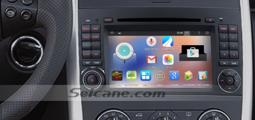 2004-2012 Mercedes Benz B Class W245 car stereo after installation