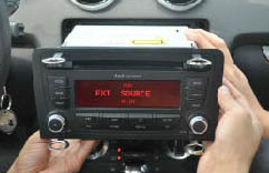 Pull the original radio out of the dashboard