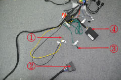 5. Connect the cables in the package.